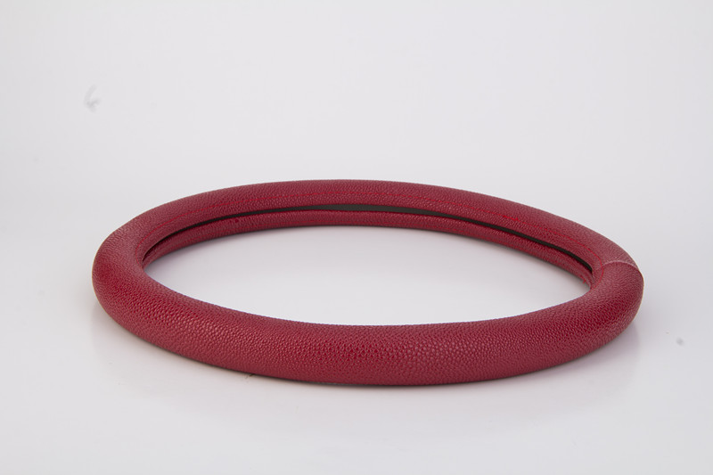 soft leather steering wheel cover auto