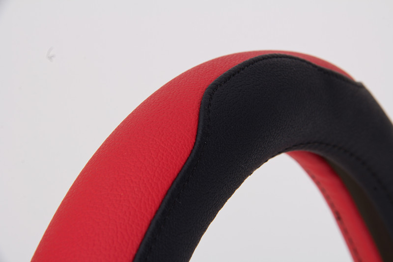 red sport car steering wheel cover